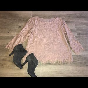 Loft lace 3/4 blouse